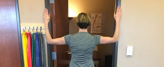 door shoulders pec stretch